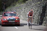 Tim Wellens (BEL/Lotto-Soudal) putting in a strong performance<br /> <br /> stage 15 (iTT): Castelrotto-Alpe di Siusi 10.8km<br /> 99th Giro d'Italia 2016