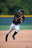 Pittsburgh Pirates Pablo Reyes (18) during a minor league Spring Training game against the Toronto Blue Jays on March 24, 2016 at Pirate City in Bradenton, Florida.  (Mike Janes/Four Seam Images)