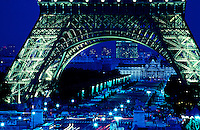 Images from the Book Journey Through Colour and Time, the Eifel Tower during dusk, Paris France