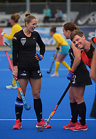 NZ captain Stacey Michelson during the Sentinel Homes Trans Tasman Series hockey match between the New Zealand Black Sticks Women and the Australian Hockeyroos at Massey University Hockey Turf in Palmerston North, New Zealand on Sunday, 30 May 2021. Photo: Dave Lintott / lintottphoto.co.nz
