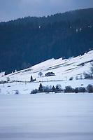 France, Jura(39), Parc naturel régional du Haut-Jura, Les Rousses, le lac des Rousses //  France, Jura, Parc Naturel Regional du Haut Jura (Jura Mountains Regional Natural Park), Les Rousses, the lake of the Rousses