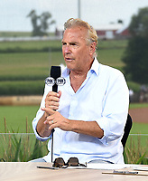 DYERSVILLE, IOWA - AUGUST 12: Kevin Costner appears on the Fox Pregame show at the MLB Field of Dreams on August 12, 2021 in Dyersville, Iowa. (Photo by Frank Micelotta/Fox Sports/PictureGroup)