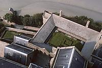 Europe/France/Normandie/Basse-Normandie/50/Manche/Mont Saint-Michel: Le cloître vu depuis la flèche