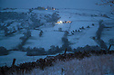 18/01/19<br /> <br /> A snowscape showing farmland near Crowdecote in the Peak District after heavy snowfall hits Derbyshire this evening. <br /> <br /> All Rights Reserved, F Stop Press Ltd +44 (0)7765 242650  www.fstoppress.com rod@fstoppress.com
