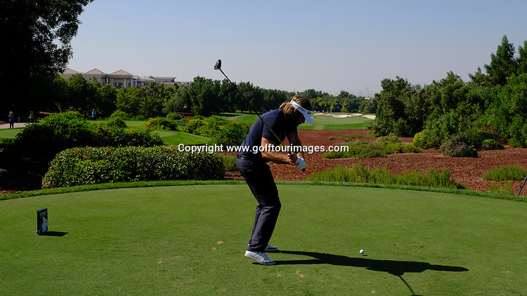 Victor DUBUISSON (FRA) during round two of the 2016 DP World Tour Championships played over the Earth Course at Jumeirah Golf Estates, Dubai, UAE: Picture Stuart Adams, www.golftourimages.com: 11/18/16