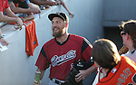 Sacramento River Cats' Hunter Pence enters Greater Nevada Field in Reno, Nev., on Tuesday, July 26, 2016.  <br />Photo by Cathleen Allison