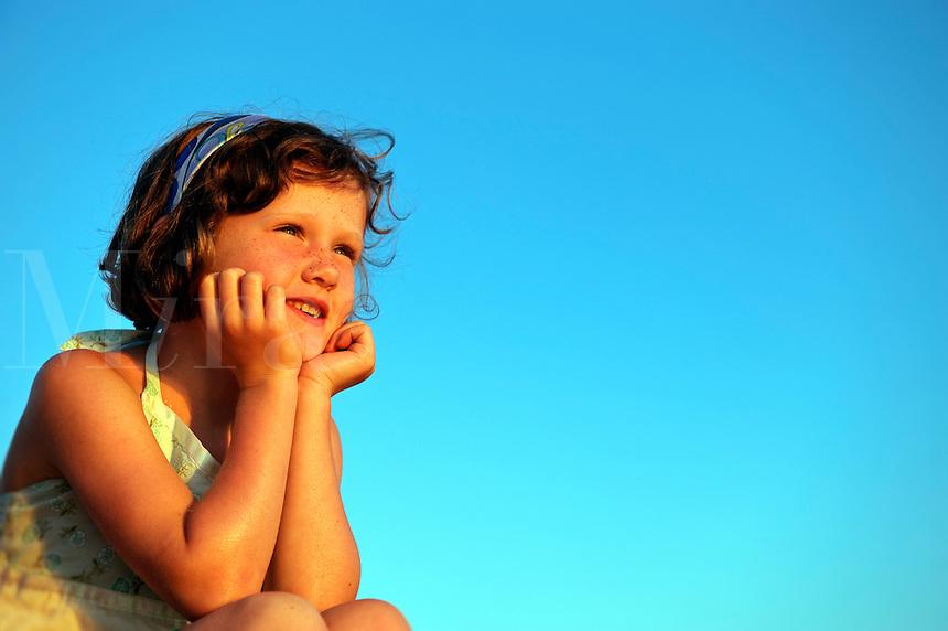 Portrait of a cute little girl,