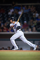 Salt River Rafters Noel Cuevas (8), of the Colorado Rockies organization, during a game against the Mesa Solar Sox on October 22, 2016 at Sloan Park in Mesa, Arizona.  Salt River defeated Mesa 7-2.  (Mike Janes/Four Seam Images)
