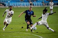 SAN JOSE, CA - SEPTEMBER 05: Jackson Yueill #14 and Lalas Abubakar #6 during a game between Colorado Rapids and San Jose Earthquakes at Earthquakes Stadium on September 05, 2020 in San Jose, California.