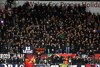 Swansea, UK. Thursday 20 February 2014<br /> Pictured: Napoli supporters<br /> Re: UEFA Europa League, Swansea City FC v SSC Napoli at the Liberty Stadium, south Wales, UK