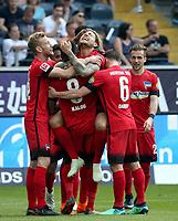 22.04.2018, Commerzbank - Arena, Frankfurt, GER, 1.FBL, Eintracht Frankfurt vs Hertha BSC , <br />Alexander Esswein (Berlin) celebration ueber  das goal  3:0 *** Local Caption *** © pixathlon<br /> Contact: +49-40-22 63 02 60 , info@pixathlon.de