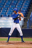 Tre Carter (9) of Soddy Daisy High School in Hixson, Tennessee playing for the Chicago Cubs scout team during the East Coast Pro Showcase on July 27, 2015 at George M. Steinbrenner Field in Tampa, Florida.  (Mike Janes/Four Seam Images)