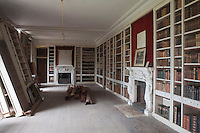 The library became the starting point of the restoration and the room was cleared and then each book dusted, cleaned and put on a shelf
