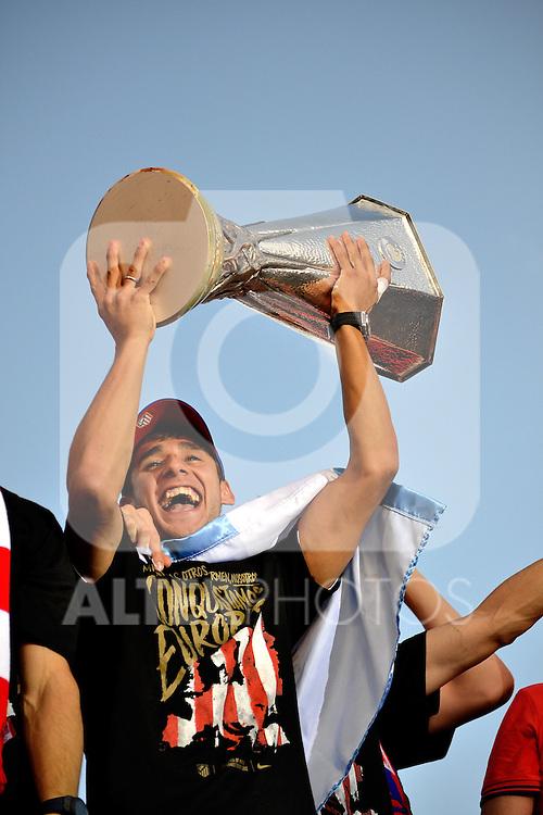 Atletico de Madrid's Silvio Champion of  UEFA League, 2012/May/010..(ALTERPHOTOS/ARNEDO & ALCONADA)