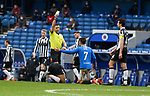 06.03.2021 Rangers v St Mirren: Ianis Hagi booked for a clumsy trip