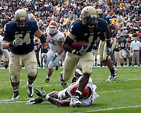 Pitt running back Ray Graham scores on a 13-yard touchdown run. The Pittsburgh Panthers defeated the Rutgers Scarlet Knights 41-21 on October 23, 2010 at Heinz Field, Pittsburgh, Pennsylvania....