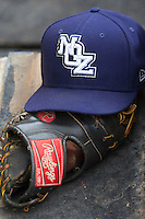 New Orleans Zephyrs hat during the Pacific Coast League baseball game against the Round Rock Express on June 30, 2013 at the Dell Diamond in Round Rock, Texas. (Andrew Woolley/Four Seam Images)