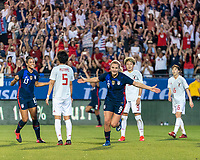 FRISCO, TX - MARCH 11: Lindsey Horan #9 of the United States celebrates her goal during a game between Japan and USWNT at Toyota Stadium on March 11, 2020 in Frisco, Texas.