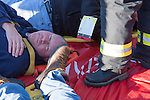 Victims laying on the Immediate response tarp at a mass cassualty event in Oconomowoc Wisconsin