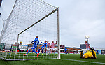 07.02.2021 Hamilton v Rangers: Brian Easton scores an own goal to put Rangers ahead