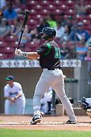 Dayton Dragons first baseman Pabel Manzanero (21) during a Midwest League game against the Cedar Rapids Kernels at Perfect Game Field on May 5, 2019 in Cedar Rapids, Iowa. Cedar Rapids defeated Dayton 4-0. (Zachary Lucy/Four Seam Images)