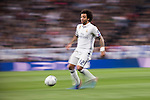 Marcelo Vieira Da Silva of Real Madrid  runs with the ball during the match Real Madrid vs Napoli, part of the 2016-17 UEFA Champions League Round of 16 at the Santiago Bernabeu Stadium on 15 February 2017 in Madrid, Spain. Photo by Diego Gonzalez Souto / Power Sport Images