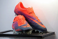 Boots to be sold at auction by Swansea City FC Community Trust. Fairwood Training Complex in Swansea, Wales, UK. Wednesday 29 March 2017