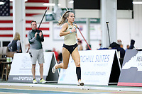 WINSTON-SALEM, NC - FEBRUARY 07: Amy Harding-Delooze #8 of Wake Forest University wins the Women's 1 Mile Run in a time of 4:45.83 at JDL Fast Track on February 07, 2020 in Winston-Salem, North Carolina.