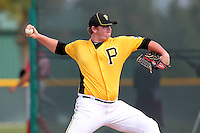 Pittsburgh Pirates pitcher Brooks Pounders #60 during an Instructional League game against the Philadelphia Phillies at Pirate City on October 11, 2011 in Bradenton, Florida.  (Mike Janes/Four Seam Images)