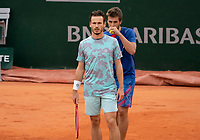 Paris, France, 06 /10/ 2020, Tennis, French Open, Roland Garros, Doubles quarter final : Wesley Koolhof (NED) (L) and Nikola Mektic  (CRO)<br /> Photo: Susan Mullane/tennisimages.com