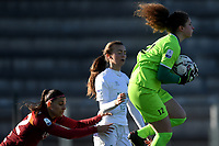 Agnese Bonfantini of AS Roma and Lia Lonni of Florentia SG during the Women Italy cup round of 8 second leg match between AS Roma and Florentia S.G. at stadio delle tre fontane, Roma, February 14, 2021. Photo Andrea Staccioli / Insidefoto
