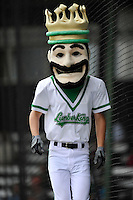 Louie the Lumberkings pose for a photos prior to the game against the West Michigan Whitecaps at Ashford University Field on July  25, 2014 in Clinton, Iowa. The Whitecaps won 9-0.   (Dennis Hubbard/Four Seam Images)
