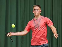 Rotterdam, Netherlands, Januari 24, 2016,  ABNAMROWTT Supermatch, Jasper van Oosten (NED)<br /> Photo: Tennisimages/Henk Koster