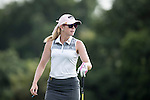 Paula Creamer tees off at the World Celebrity Pro-Am 2016 Mission Hills China Golf Tournament on 21 October 2016, in Haikou, China. Photo by Victor Fraile / Power Sport Images