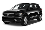 2020 Volvo XC40 Momentum 5 Door SUV Angular Front automotive stock photos of front three quarter view