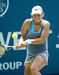 Varvara Lepchenko (USA) during her semifinal match against Karolina Pliskova (CZE) at the Bank of the West Classic in Stanford, CA on August 8, 2015. Lepchenko fell to Pliskova by 62 75.