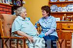 Margaret Freeman, Health Care Worker with 83 year old Margaret Bradbury at her home in Tarbert.