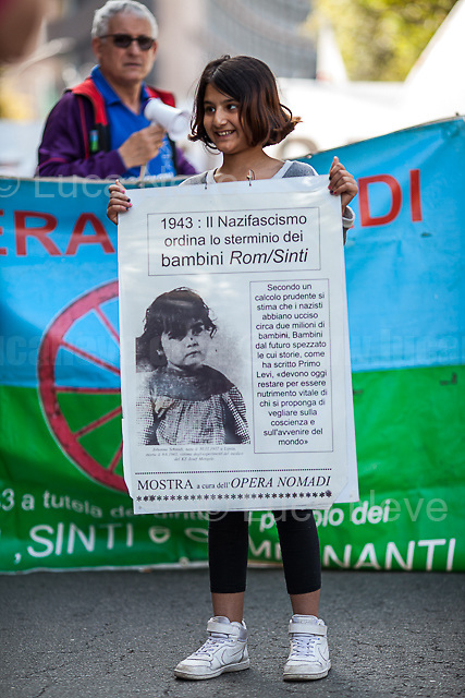 Rome, 25/04/2018. Today, to mark the 73rd Anniversary of the Italian Liberation from nazi-fascism ('Liberazione'), ANED Roma & ANPI Roma (National Association of Italian Partizans) held a march ('Corteo') from Garbatella to Piazzale Ostiense where a rally took place attended by Partizans, Veterans and politicians – including the Mayor of Rome and the President of Lazio's Region. From the organisers Facebook page:<<For the 25th of April, the 73rd Anniversary of the Liberation of Italy from nazi-fascism, while facing new threats to the world peace, it is necessary to remember that the Fight for Liberation triggered the greatest, positive, 'break' of the whole modern age of the Italian history. The Fight for the Liberation was supported by a great solidarity of the people. The memory of those who in the partizan struggle, in the camps of imprisonment, internment or extermination, opposed - even until the sacrifice of life - the dictatorship, the greed of territorial conquests, crazy ideologies of race supremacy, constitutes concrete warning against any attempt to undermine the foundations of the free institutions born of the Resistance. Memory is not an instrument of hatred or revenge, but of unity in a spirit of harmony without discriminations... <br /> (For the full caption please read the PDF attached at the the beginning of this story).<br /> <br /> For more info please click here: https://bit.ly/2vOIfNf & https://bit.ly/2r4iJy3 & http://www.anpi.it<br /> <br /> For the Wikipedia's page of the 'Liberazione' please click here: https://en.wikipedia.org/wiki/Liberation_Day_(Italy)<br /> <br /> For a Video of the event by Radio Radicale please click here: https://www.radioradicale.it/scheda/539534/manifestazione-promossa-dallanpi-in-occasione-della-73a-festa-della-liberazione