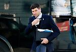St Johnstone v Rangers…21.04.21   McDiarmid Park   SPFL<br />Rangers boss Steven Gerrard arrives at McDiarmid Park<br />Picture by Graeme Hart.<br />Copyright Perthshire Picture Agency<br />Tel: 01738 623350  Mobile: 07990 594431