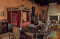 Europe/France/Midi-Pyrénées/46/Lot/Vallée du Céré/Bretenoux: Intérieur du château - Salle des Etats généraux du Quercy devenue chambre de Mouhérat