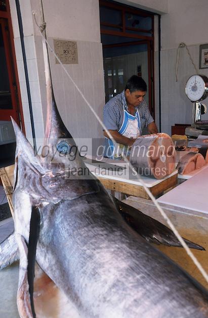Europe/Italie/Calabre/Villa San Giovanni : Espadon chez le poissonnier