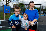Enjoying the playground in the Listowel town park on Saturday, l to r: Ronan, Grainne and Mary Bridget O'Connor.