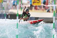 Aden Cassaidy. Oceania Canoe Slalom Championships, Whero Whitewater Park, Auckland, New Zealand, 1st February 2020. Photo: Simon Watts/www.bwmedia.co.nz