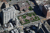 aerial photograph of Huntington Park, Nob Hill, San Francisco, California