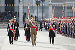 King Felipe VI of Spain presides the Military Eastern (Pascua Militar) at the Royal Palace in Madrid, Spain. January 06, 2015. (ALTERPHOTOS/Pool)
