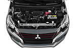Car Stock 2020 Mitsubishi Space-Star Red-Line-Edition 5 Door Hatchback Engine  high angle detail view