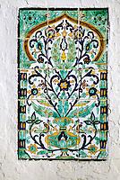 Ceramics, Nabeul, Tunisia.  Street Tomb, Sidi Maaouia.  Floral Wall Panels.
