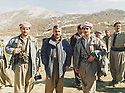Iran 1990  <br /> Meeting of the Kurdistan Front before the uprising, in Kasmarach, 2nd from left to right, Mullazem Omar Abdallah, Sidat Barzani and Sami Abdul Rahman <br />  Iran 1990 <br /> Rencontre du front du Kurdistan avant le soulevement  a Kasmarach. A partir du 2eme a gauche , Mullazem Omar Abdallah, Sidat Barzani et Sami Abdul Rahman