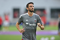 WASHINGTON, DC - JULY 7: Steven Birnbaum #15 of D.C. United warming up during a game between Liga Deportiva Alajuense  and D.C. United at Audi Field on July 7, 2021 in Washington, DC.
