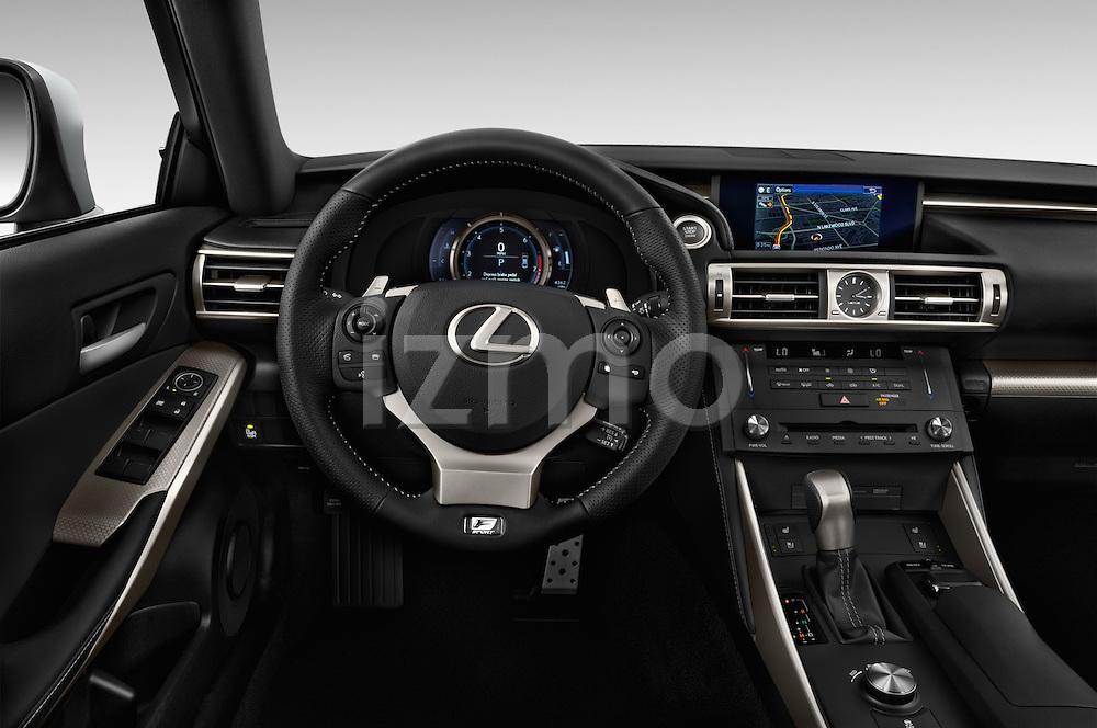 Car pictures of steering wheel view of a 2016 Lexus IS F Sport Line 4 Door Sedan Steering Wheel
